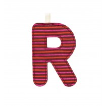 """LETTERA """"R"""" IN STOFFA DA APPENDERE"""