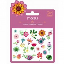 STICKERS GLITTER FIORI TROPICALI