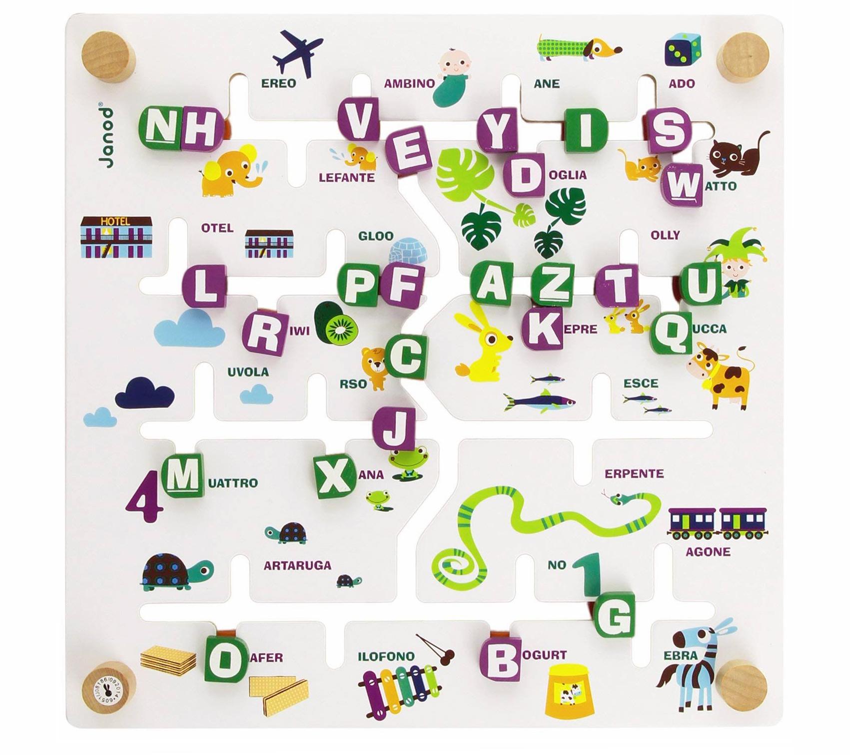 Labyletters labirinto alfabeto